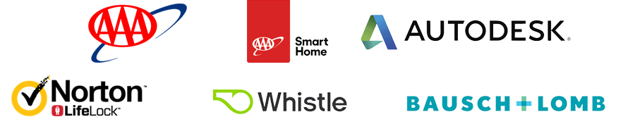 Clients: AAA, A3V, Bausch + Lomb, Whistle, Autodesk